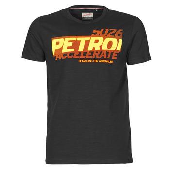 material Men short-sleeved t-shirts Petrol Industries T-SHIRT SS R-NECK F Black