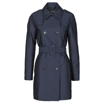 material Women Trench coats Esprit TRENCH COURT Blue