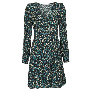 material Women Short Dresses Naf Naf LEO R1 Leo / Black / Green