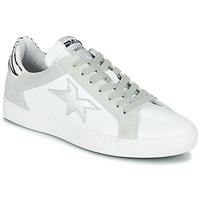 Shoes Women Low top trainers Meline  White / Silver / Zebra