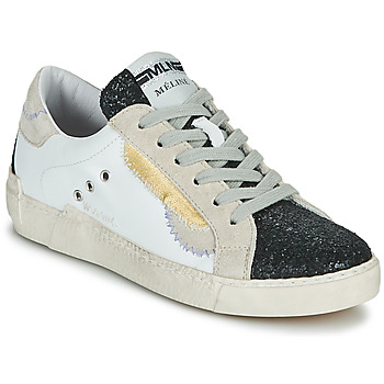 Shoes Women Low top trainers Meline NKC139 White / Glitter / Black