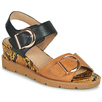 Shoes Women Sandals Sweet ETOXYS Black / Camel