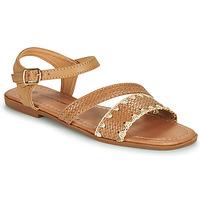 Shoes Women Sandals The Divine Factory TX4339 Camel