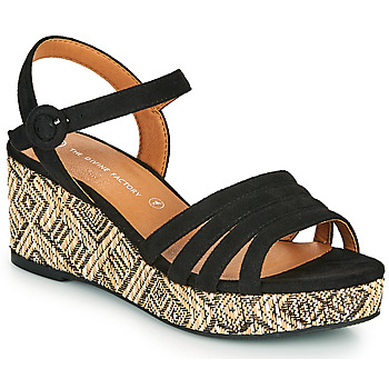 Shoes Women Sandals The Divine Factory QL4345 Black
