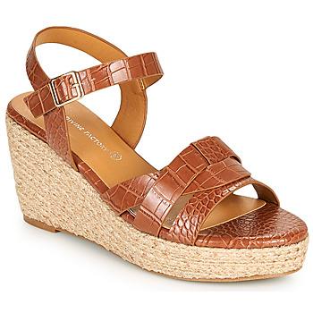 Shoes Women Sandals The Divine Factory QL4351 Camel