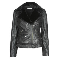 material Women Leather jackets / Imitation leather Naf Naf CILL Black