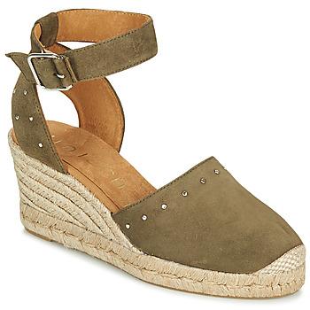 Shoes Women Sandals Unisa CLIVERS Kaki