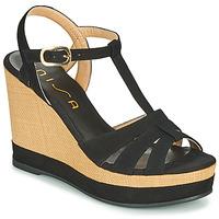 Shoes Women Sandals Unisa MANACOR Black