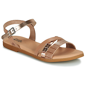 Shoes Girl Sandals Citrouille et Compagnie OBINOU Tan / Gold