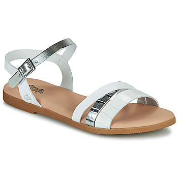 Shoes Girl Sandals Citrouille et Compagnie NEW 13 White / Silver