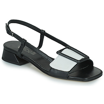 Shoes Women Sandals Fericelli PANILA Black / White