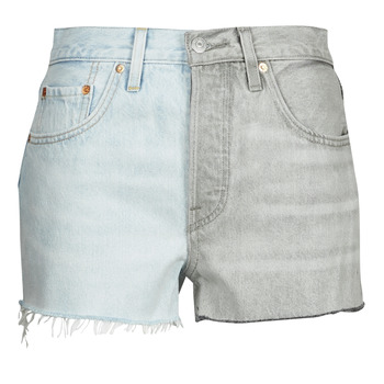 material Women Shorts / Bermudas Levi's ICE BLOCK Blue / Grey