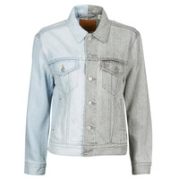 material Women Denim jackets Levi's ICE BLOCK TRUCKER Blue / Grey