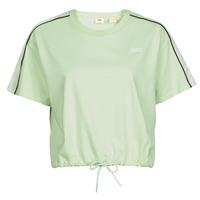 material Women short-sleeved t-shirts Levi's GINGER NYLON PIECED TEE BOK CHOY, TOFU & CAVIAR White