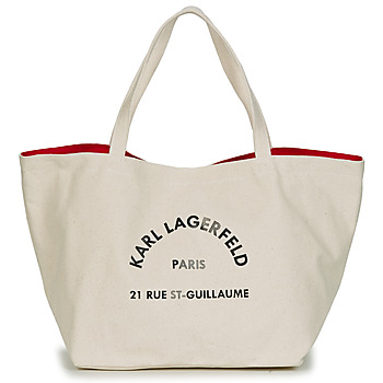 Bags Women Shopper bags Karl Lagerfeld RUE ST GUILLAUE CANVAS TOTE Ecru