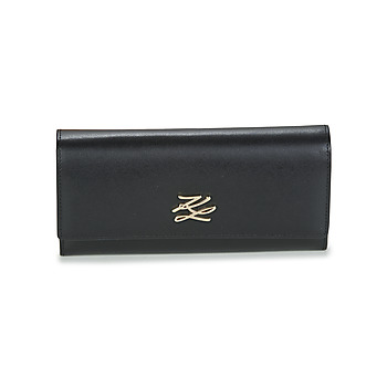 Bags Women Wallets Karl Lagerfeld K/AUTOGRAPH CONT FLAP WALLET Black