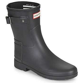 Shoes Women Wellington boots Hunter ORIGINAL REFINED SHORT Black