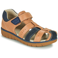 Shoes Boy Sandals Clarks ROAM BAY K Camel / Marine