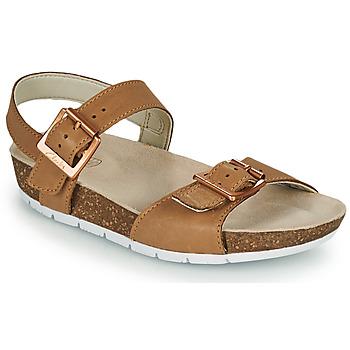 Shoes Children Sandals Clarks RIVER SAND K Camel