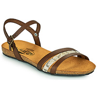 Shoes Women Sandals Plakton MAM ALOU Brown