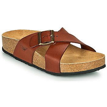 Shoes Women Mules Plakton BAKER Cognac