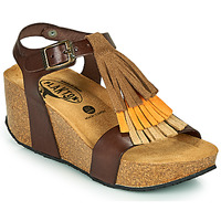 Shoes Women Sandals Plakton SO TONKA Brown
