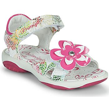 Shoes Girl Sandals Primigi SARAH White / Multicolour