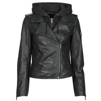 material Women Leather jackets / Imitation leather Ikks BS48015-02 Black