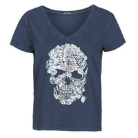 material Women short-sleeved t-shirts Ikks BS10415-49 Marine