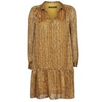 material Women Short Dresses Ikks BS30195-75 Amber