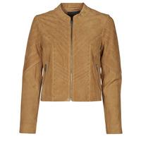 material Women Leather jackets / Imitation leather Ikks BS48075-63 Hazelnut