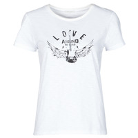 material Women short-sleeved t-shirts Ikks BS10185-11 Ecru