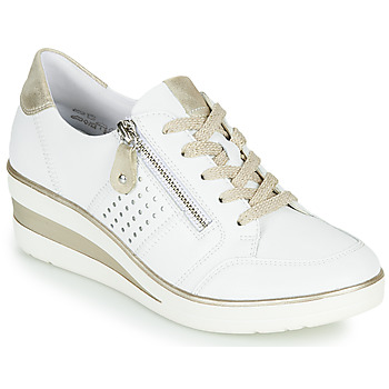 Shoes Women Low top trainers Remonte Dorndorf DORA White / Gold