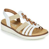Shoes Women Sandals Remonte Dorndorf GRISSA White / Grey