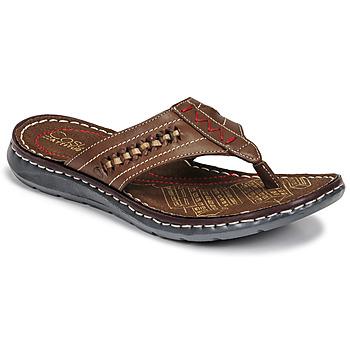 Shoes Men Flip flops Casual Attitude OPOM Brown
