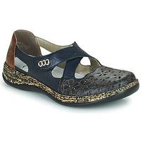 Shoes Women Ballerinas Rieker DUBLIN Blue