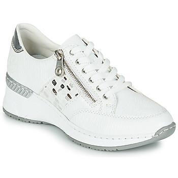 Shoes Women Low top trainers Rieker GRAMI White