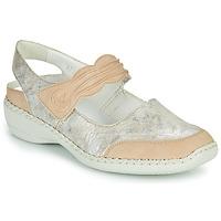 Shoes Women Sandals Rieker ALINA Silver