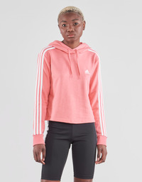 material Women sweaters adidas Performance W 3S FT CRO HD Pink