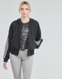 material Women Jackets adidas Performance W 3S FZ HD Black
