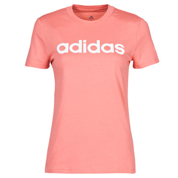 material Women short-sleeved t-shirts adidas Performance W LIN T Pink