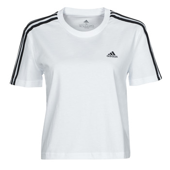 material Women short-sleeved t-shirts adidas Performance W 3S CRO T White