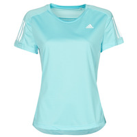 material Women short-sleeved t-shirts adidas Performance OWN THE RUN TEE Blue