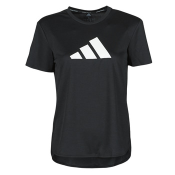 material Women short-sleeved t-shirts adidas Performance BOS LOGO TEE Black