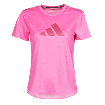 material Women short-sleeved t-shirts adidas Performance BOS LOGO TEE Pink