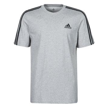 material Men short-sleeved t-shirts adidas Performance M 3S SJ T Grey