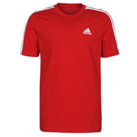 material Men short-sleeved t-shirts adidas Performance M 3S SJ T Red
