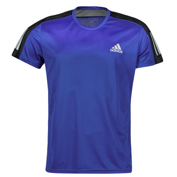 material Men short-sleeved t-shirts adidas Performance OWN THE RUN TEE Blue