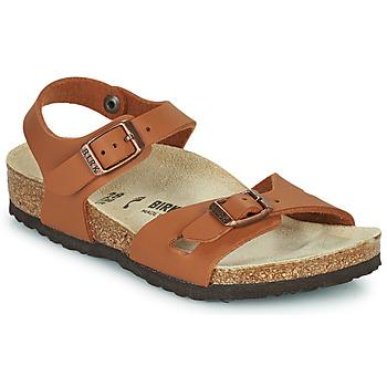 Shoes Girl Sandals Birkenstock RIO Brown
