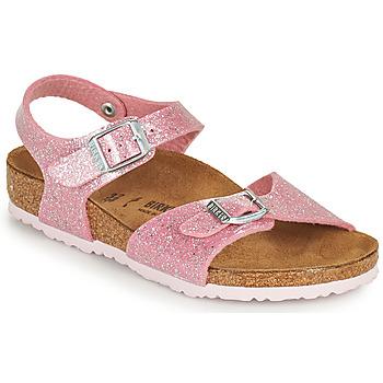 Shoes Girl Sandals Birkenstock RIO PLAIN Pink